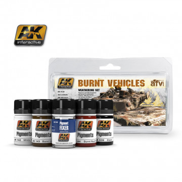 Burnt Vehicles Set