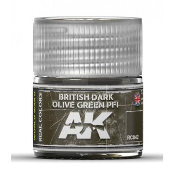 Vernice Acrilica AK Real Colors British Dark Olive Green PFI 10ml
