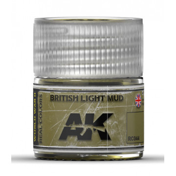 Vernice Acrilica AK Real Colors British Light Mud 10ml