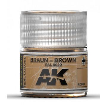 Vernice Acrilica AK Real Colors Braun-Brown RAL 8020 10ml