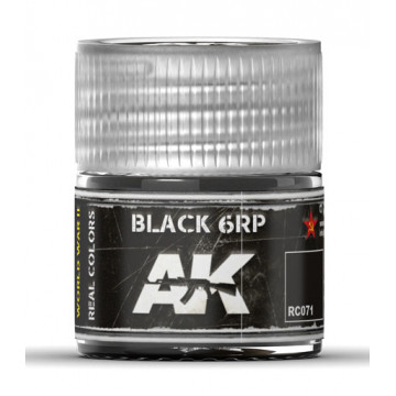 Vernice Acrilica AK Real Colors Black 6RP 10ml
