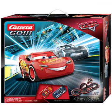 Pista Elettrica Carrera GO Disney Pixar Cars® 3 Finish First !