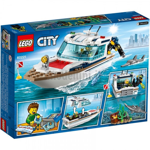 Lego city 60221 yacht a immersione