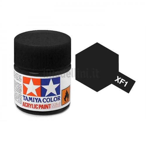 Vernice Acrilica Tamiya Mini XF-1 Flat Black