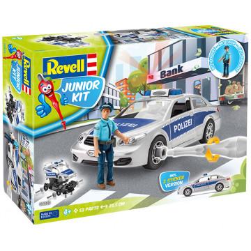 Junior Kit Auto della Polizia con Personaggio 1:20