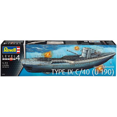 Sottomarino Tedesco U-Boot Type IX C/40 1:72