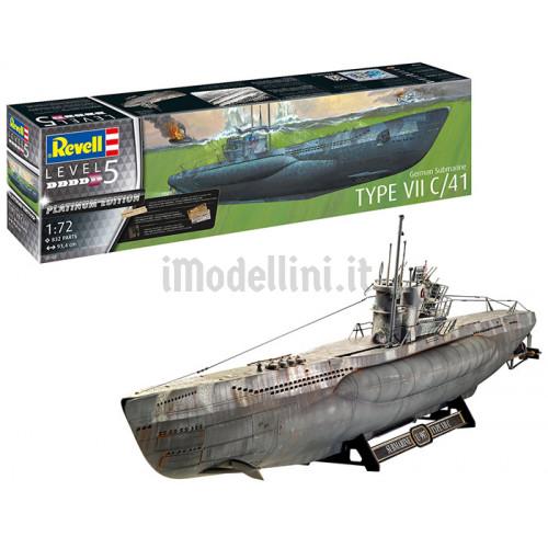 Sottomarino Tedesco U-Boot Type VII C/41 1:72