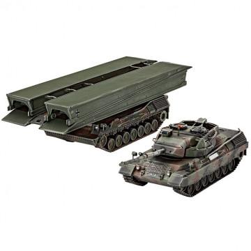 Carro Armato Leopard 1A5 e Gettaponte Biber 1:72