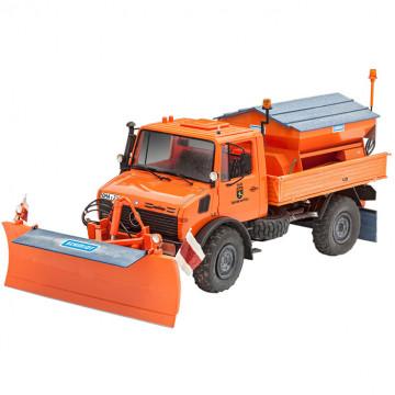 Camion Spazzaneve Unimog U1300L Winter Service 1:24