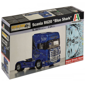Motrice Camion Scania R620 Blue Shark 1:24