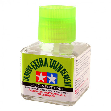 Colla Tamiya Extra Thin Cement Quick Setting da 40ml
