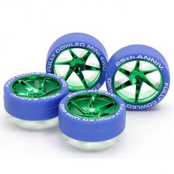 Cerchi Verdi con Gomme Blu 25° Anniversario Fully Cowled