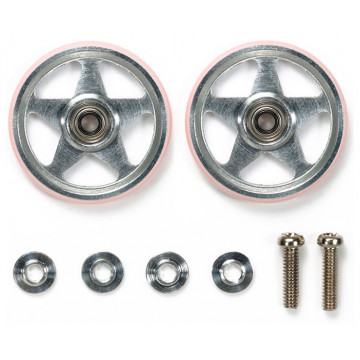 Roller in Alluminio da 19mm con Anello Rosa in Plastica