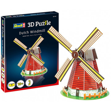 Puzzle 3D Mulino a Vento Olandese