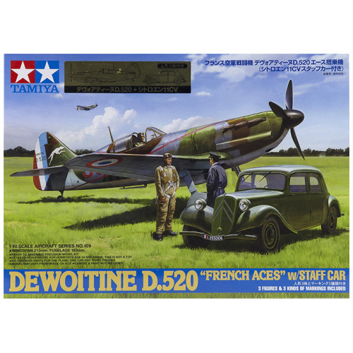 Dewoitine D.520 French Aces con Staff Car 1:48
