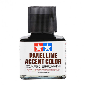 Panel Line Accent Color Enamel Dark Brown