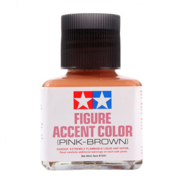 Figure Accent Enamel Color Pink-Brown