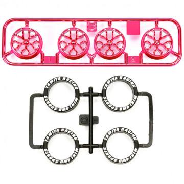 Cerchi Rosa Metallizzati con Razze a Y e Gomme Low Profile