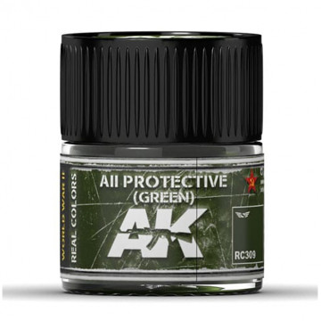 Vernice Acrilica AK Real Colors AII Protective Green 10ml