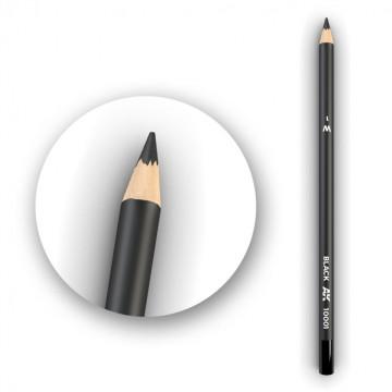 Set 5 Matite AK Watercolor Pencil Black