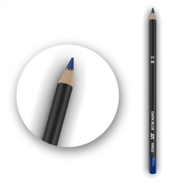 Set 5 Matite AK Watercolor Pencil Dark Blue