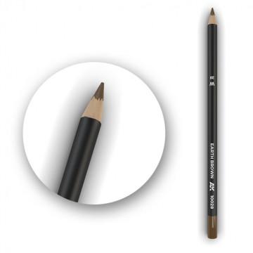 Set 5 Matite AK Watercolor Pencil Earth Brown