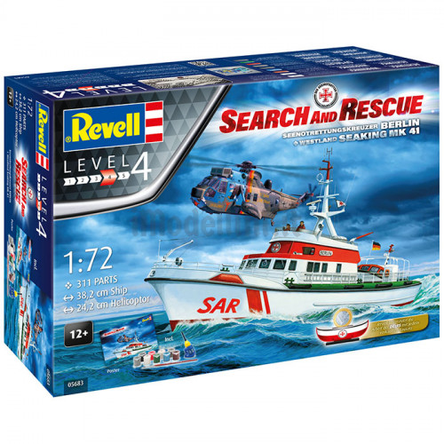 Incrociatore DGzRS Berlin Sea King Good Bye Set  1:72