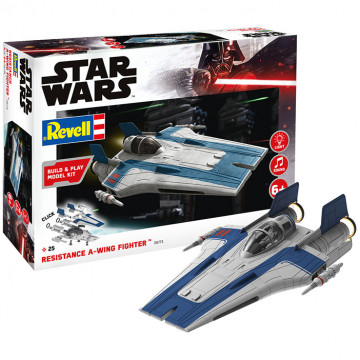 Build & Play Star Wars Resistance A-Wing Fighter Blu 1:44