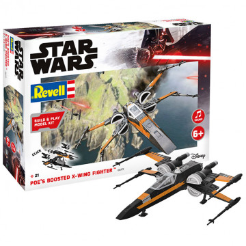 Build & Play Star Wars Poe's Boosted X-Wing Fighter 1:78