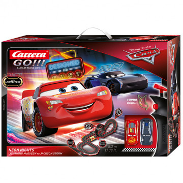 Pista Elettrica Carrera GO Disney Pixar Cars Neon Nights