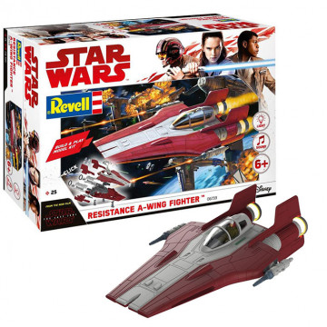 Build & Play Star Wars Resistance A-Wing Fighter Red 1:44