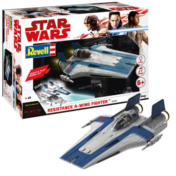 Build & Play Resistance A-Wing Fighter Blue 1:44