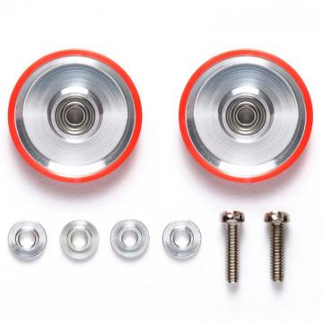 Roller in Alluminio Dish Type da 17mm con Anello in Plastica Rosso