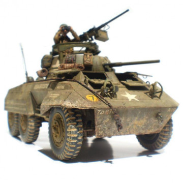 Autoblindo US Army M8 Light Truck Greyhound 1:35