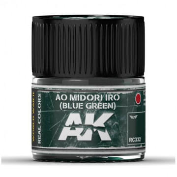 Vernice Acrilica AK Real Colors Ao Midori Iro (Blue-Green) 10ml