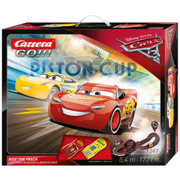 Pista Elettrica Carrera GO Disney Pixar Cars® 3 Ride The Track