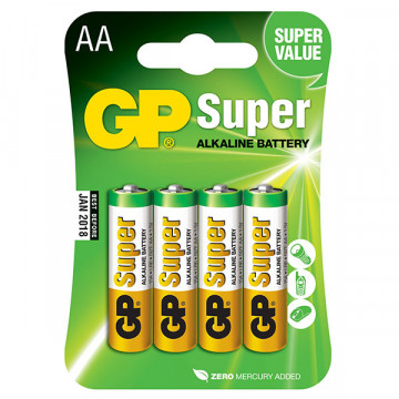 Batterie Stilo GP Super Alcaline Tipo AA 1.5V